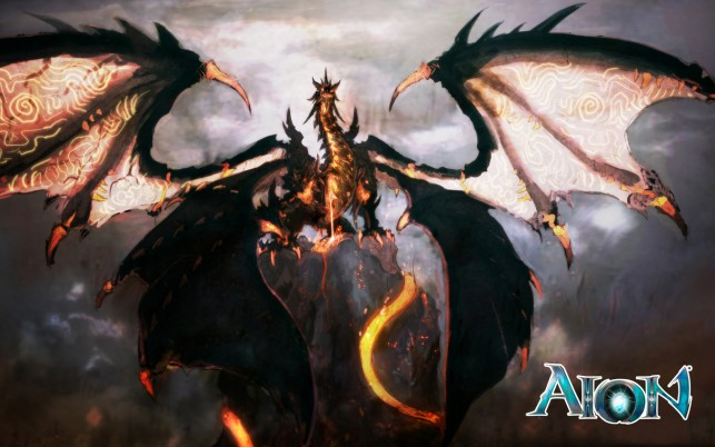 Aion Dragon, game wallpapers and stock photos