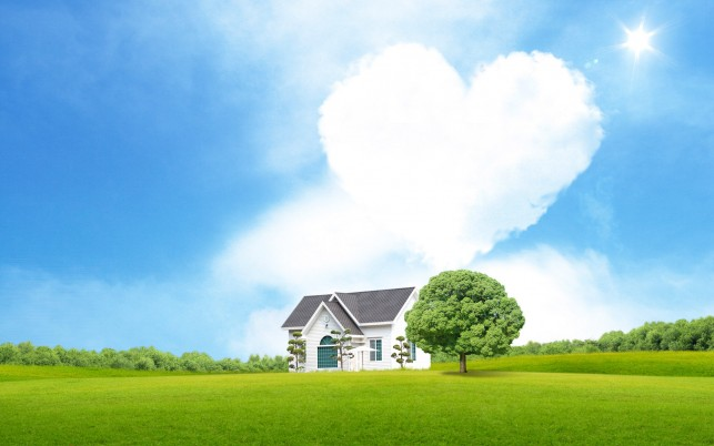 Dream Love House wallpapers and stock photos