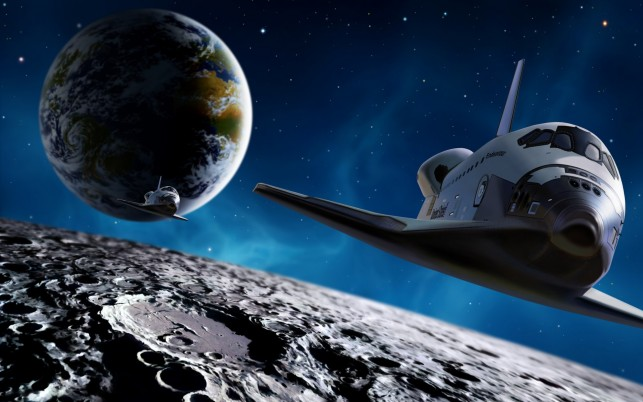 Space Shuttle, fantasy wallpapers and stock photos