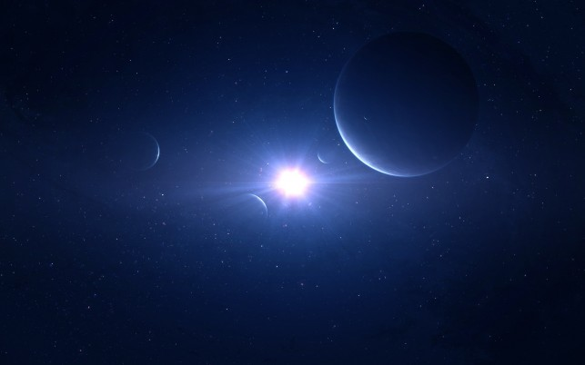 Blue space, planet, universe, star, light, galaxy wallpapers and stock photos