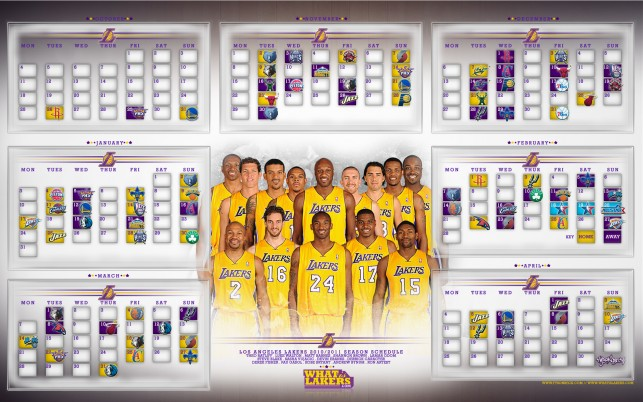 Lakers Schedule, season wallpapers and stock photos