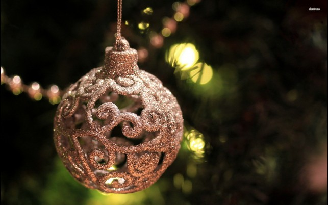 Christmas sparkly bauble, merry christmas, decoration, holiday, holidays wallpapers and stock photos