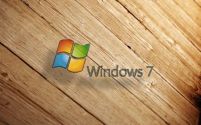 Windows  wood, windows7 wallpapers and stock photos