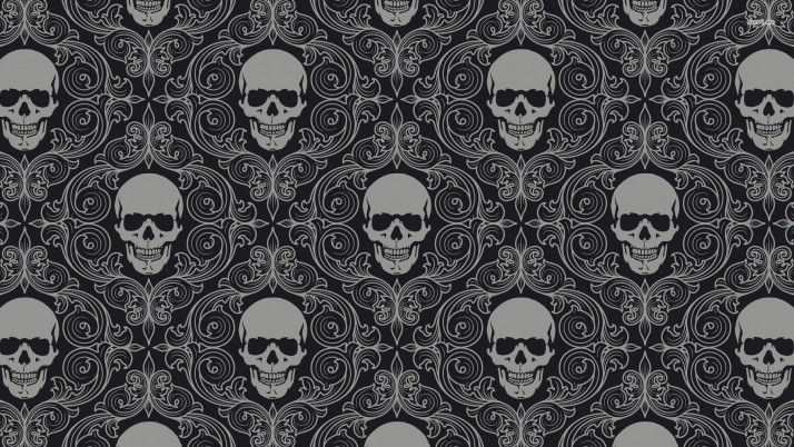 Vintage skull pattern, vector wallpapers and stock photos