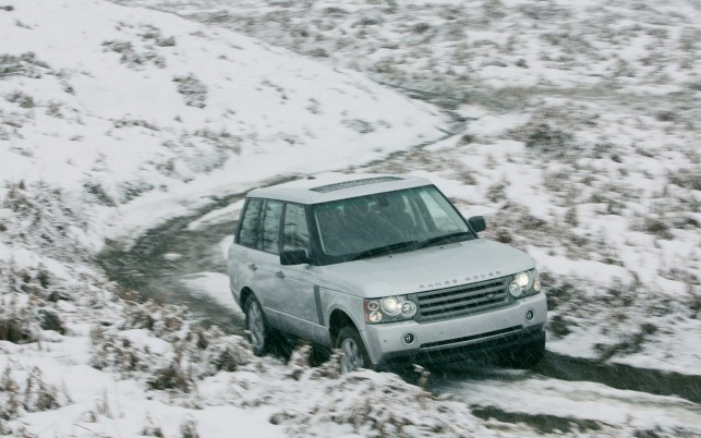 Range Rover Vogue, winter, white wallpapers and stock photos