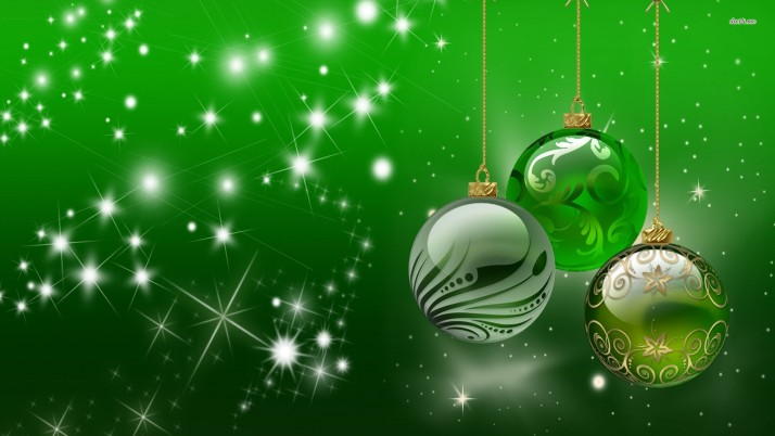 Green Christmas globes, ornament, merry christmas, holiday, holidays wallpapers and stock photos