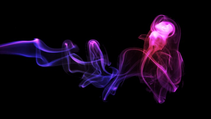 Random: 3D Smoke, back,  abstract