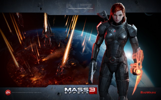 Mass Effect 3 Femshep, game, video wallpapers and stock photos