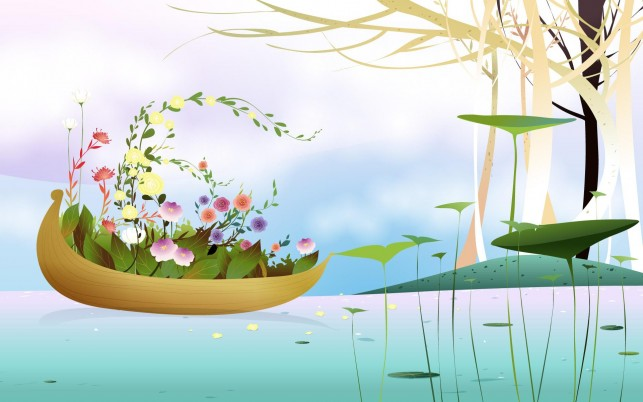 Flower Boat wallpapers and stock photos
