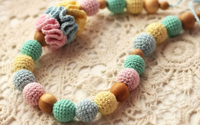 Crochet bracelet, photography wallpapers and stock photos