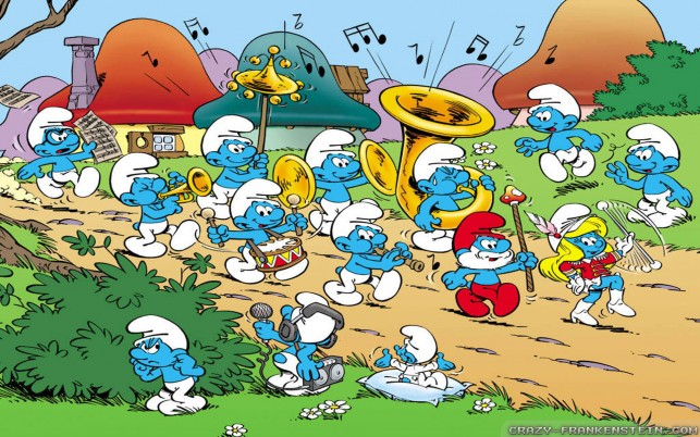 Smurfs, cartoon wallpapers and stock photos