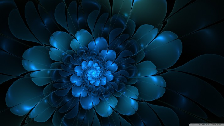 Blue Flower Abstract, flowers wallpapers and stock photos