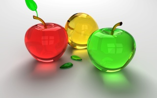 Glass Apples wallpapers and stock photos