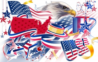 Details for the 'USA 4 July' stock photo, free image