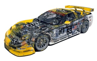 Corvette Racer wallpapers and stock photos