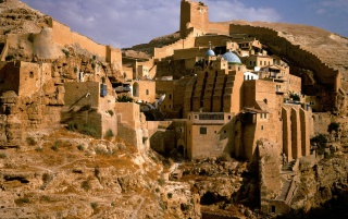 Mar Saba Monastery wallpapers and stock photos