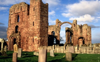 Lindisfarne Priory wallpapers and stock photos