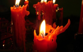 Red Candles wallpapers and stock photos