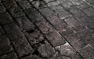 Wet stone street wallpapers and stock photos
