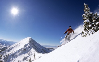 Telemark Skiing wallpapers and stock photos