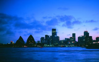 Sidney by Night wallpapers and stock photos