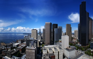 Seattle Town wallpapers and stock photos
