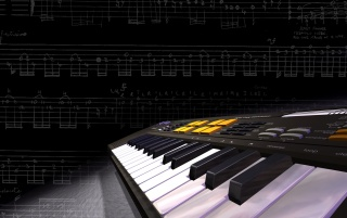 Musik-Tastatur wallpapers and stock photos