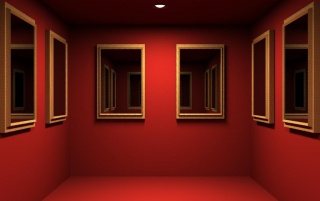 Red Mirrored Room wallpapers and stock photos