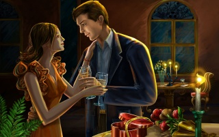 Romantic Dinner wallpapers and stock photos