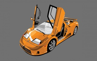 Bugatti EB 110 wallpapers and stock photos