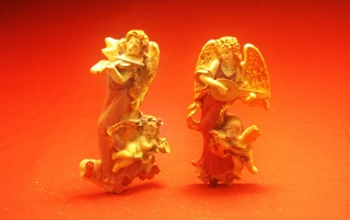 Angel Gold Statues wallpapers and stock photos