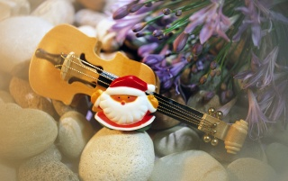Santa Guitar wallpapers and stock photos