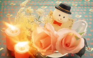 Snowmans Candles wallpapers and stock photos