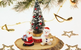 Santa and Snowman wallpapers and stock photos