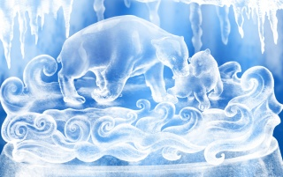 Details for the 'Ice Figures' stock photo, free image