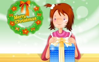 Girl Present wallpapers and stock photos