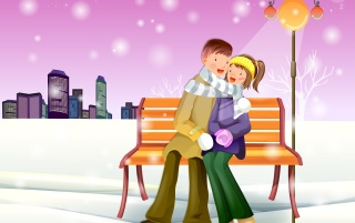 Romantic Winter wallpapers and stock photos