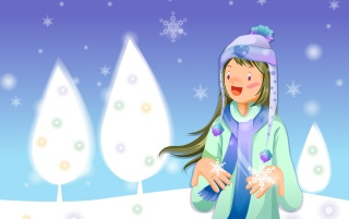 Flakes in Hands wallpapers and stock photos