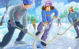 Hockey Fun wallpapers and stock photos
