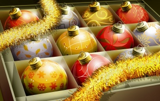 Christmas Balls Box wallpapers and stock photos