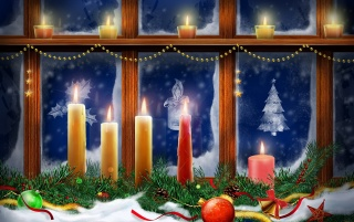 Window Candles wallpapers and stock photos