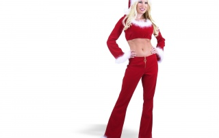 Christmas Santa Girl wallpapers and stock photos