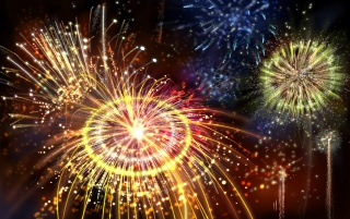 2008 Fireworks wallpapers and stock photos