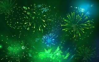 Green Fireworks wallpapers and stock photos