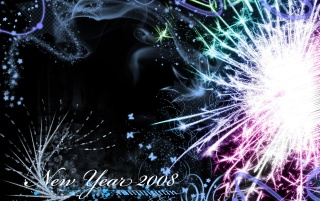 New Year 2008 wallpapers and stock photos