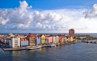 Curacao from Above wallpapers and stock photos