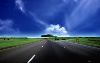 Bifurcation Road wallpapers and stock photos