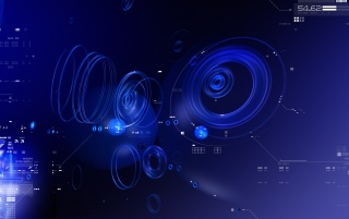 Blue Tech Circles wallpapers and stock photos