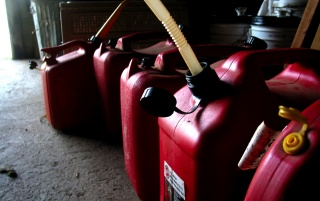 Random: Red gas tanks