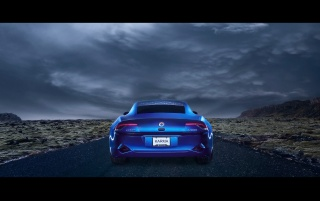 Fisker Karma trasero wallpapers and stock photos
